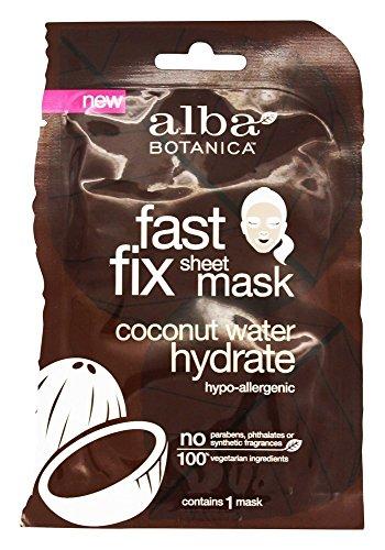 Alba Botanica Fast Fix Sheet Mask, Coconut Water Hydrate, 1 Ounce