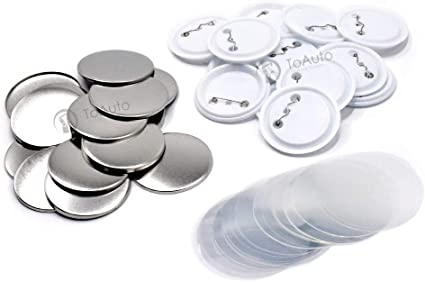100 Sets Blank Badge Parts Supplies Pin Materials For Button Maker Machine DIY