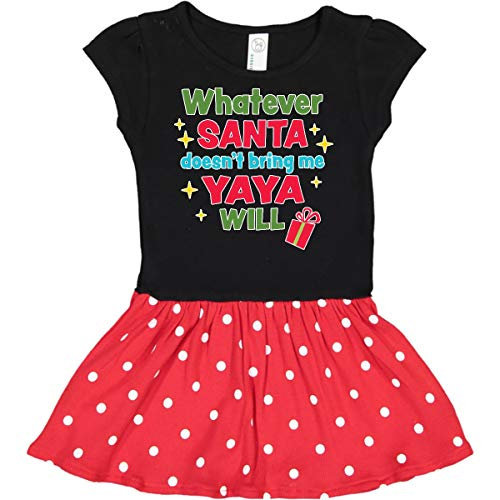 inktastic Christmas Whatever Infant Dress 24 Months Black & Red with Polka Dots (Best Greek Jokes Ever)