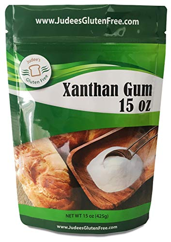 Judee's Xanthan Gum Gluten Free(15 oz) - USA Packed & Filled - Dedicated Gluten & Nut Free Facility - Perfect for Low Carb Keto Cooking & Thickening. Non-GMO(11.25 Oz Size Available Also)
