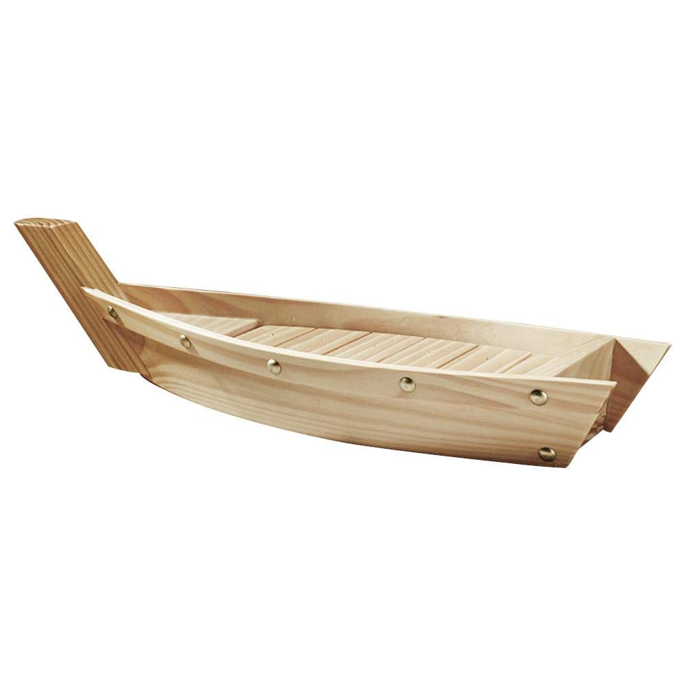 Augproveshak Creative Boat-shaped Wooden Utensils Japanese Cuisine Sushi boat Sashimi Plate Dish Tableware Decorations For Party Foods, Snacks, Nibbles, Appetizers, Finger Foods & More