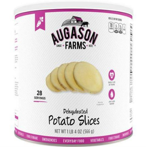 Augason Farms Emergency Food Dehydrated Potato Slices, 20 oz by