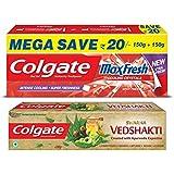 Colgate Swarna Vedshakti - 200 g with MaxFresh Spicy Fresh Toothpaste - 300 g