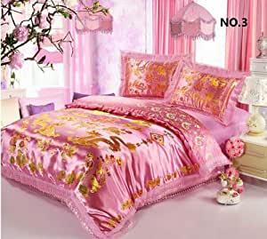 Fadfay home textile chinese dragon duvet cover for Bride kitchen queen set