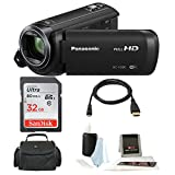 Panasonic HC-V380K Full HD 1080p Camcorder w/ Memory Card and Accessory Bundle (32GB Essentials Bundle)