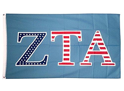 Desert Cactus Zeta Tau Alpha ZTA USA Letter Sorority Flag Greek Letter Use as a Banner Large 3 x 5 Feet Sign Decor