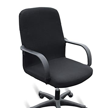 Awesome Btsky Office Computer Chair Covers Stretchy Polyester Desk Chair Rotating Chair Cover Large Size Black Download Free Architecture Designs Estepponolmadebymaigaardcom