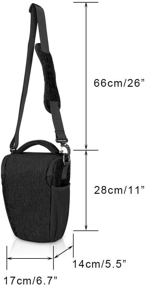 Compatible for Nikon Canon Sony Mirrorless Cameras Waterproof Light Grey CADeN DSLR//SLR Camera Shoulder Sling Bag Case with Adjustable Shoulder Strap