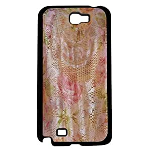 Pretty Peach Floral Background Hard Snap on Phone Case (Note 2 II)