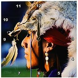 3dRose DPP_92647_1 Native American Headdress, Santa Fe, New Mexico-Us32 Jmr0247-Julien McRoberts-Wall Clock, 10 by 10-Inch