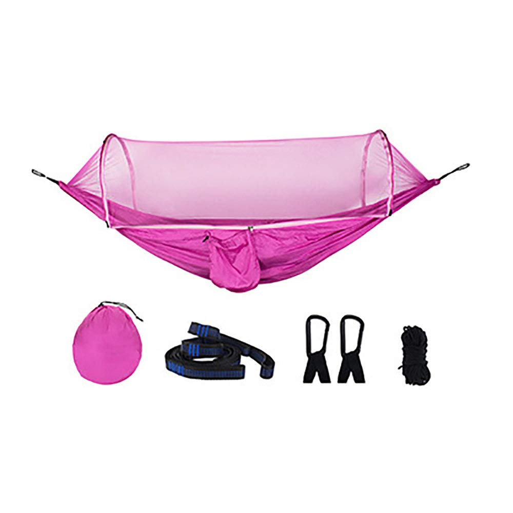 987661fa341b Pink QuickOpening Mosquito Net Hammock Simple Tent On The Tree is  Comfortable and Spacious Parachute Cloth