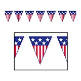 Beistle - 50530 - Spirit Of America Pennant Banner- Pack of 12