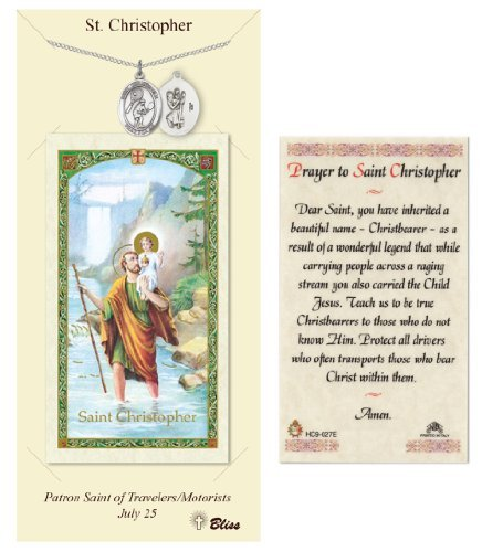 (St. Christopher Prayer Card & Medal for Tennis Players)
