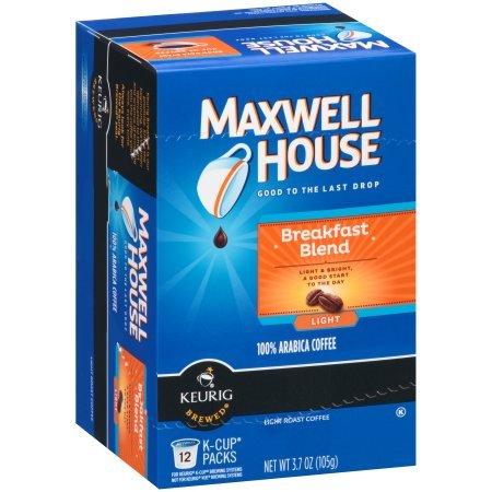 Maxwell House Breakfast Blend Coffee  Single Serve K Cup  24 Ct   Retail Packaging