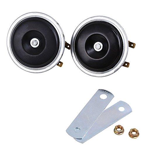 FidgetGear 2x Mini Super Loud Universal Electric Metal Horn Waterproof 12V 110db Car Black