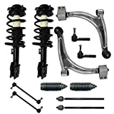 Detroit Axle - Brand New Complete 12-Piece Front Suspension Kit - 2 Front Struts, 2 Lower Control Arm & Ball Joint, All 4 Tie Rod, 2 Sway Bar - Fits Non Turbo Models Only. 11.8 Inch Center to Center