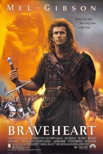 Braveheart Movie Poster 24in x36in