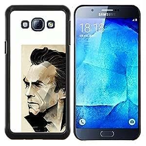 """Be-Star Único Patrón Plástico Duro Fundas Cover Cubre Hard Case Cover Para Samsung Galaxy A8 / SM-A800 ( Arnold héroe de la acción de la película del personaje"""" )"""