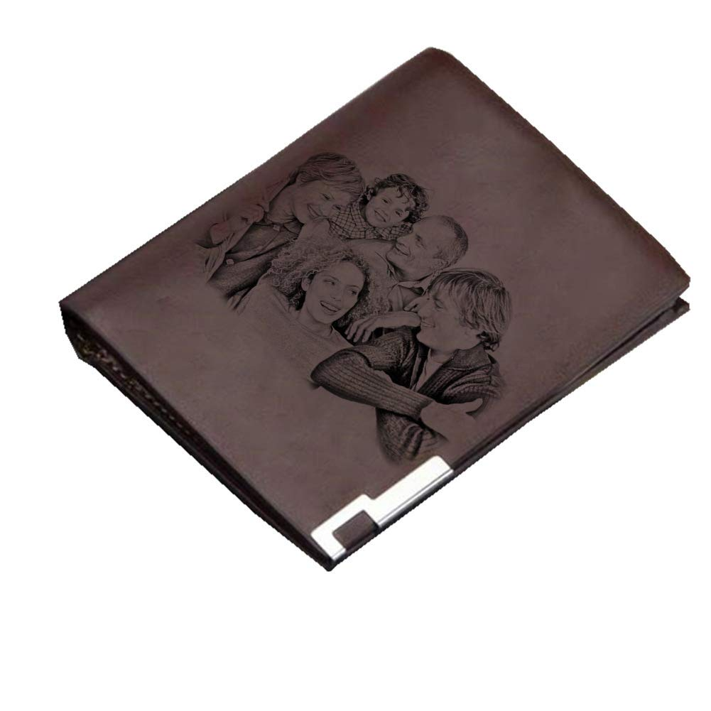 Fathers Day Wallet Mens Classic Business Durable Wallet Photo Custom Wallet