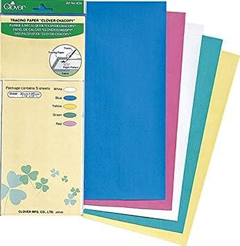 Clover 434 Pauspapier, 5 Bögen 30 x 25 cm, farbig sortiert: Amazon ...