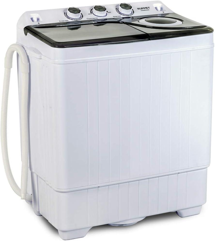 KUPPET Compact Twin Tub Portable Mini Washing Machine 26lbs Capacity