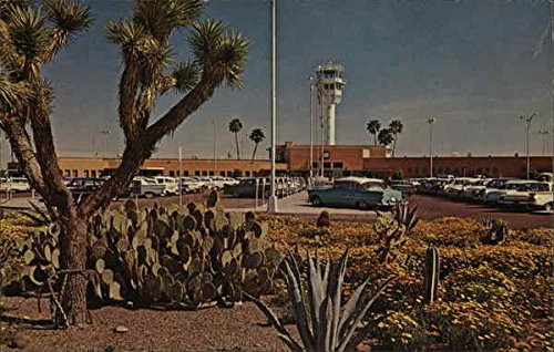 Sky Harbor Airport Phoenix, Arizona Original Vintage - Harbor Airport Phoenix Sky