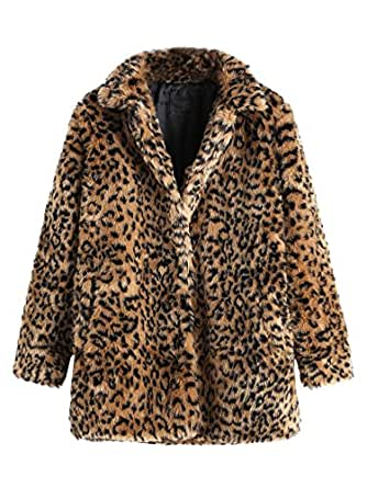 SweatyRocks Women Khaki Hooded Dolman Sleeve Faux Fur