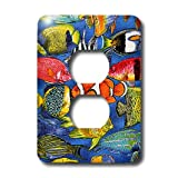 3dRose LSP_5741_6 Tropical Fish 2 Plug Outlet Cover, Multicolored