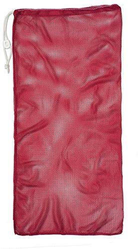 Champion Sports Mesh Equipment Bag, Bright Red, 24