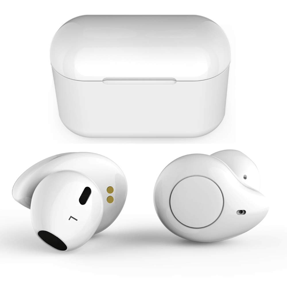 True Wireless Earbuds,Willful T1 Bluetooth 5.0 Earbuds in-Ear Headphones Wireless Earphones HD Stereo Sound,Clear Call,20H Playtime,2019 Version TWS with Mic Charging Case for iPhone Android White