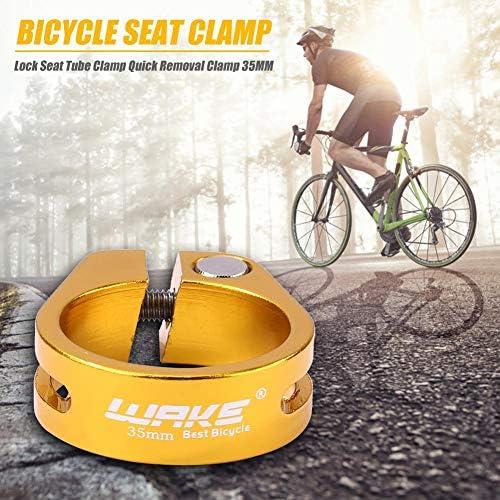 Yanten Abrazadera de tija de sill/ín de liberaci/ón r/ápida para Bicicleta MTB Clip de Tubo de Poste de Asiento de Ciclismo de 35 mm