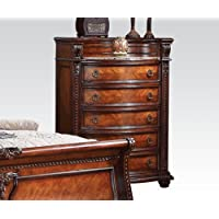 Nathaneal Collection 22316 Chest with Marble Top in Tobacco Finish