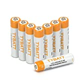 TYBATT 8-Pack Rechargeable AAA Batteries 1100mAh Ni-MH Rechargeable Batteries High Performance 1200 Cycle, Battery Case Included …