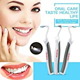 (USA SHIPPIN) HONEWIN 3 in 1 LED Oral Dental Hygeine Professional Cleaning Tool Kits Sonic Tooth Stain Eraser Plaque Remover,Teeth Burnisher Polisher Whitening Tartar Plaque Remove Surface