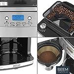 BEEM-Fresh-Aroma-Perfect-Superior-Macchina-per-caffe-filtro-con-macinino-e-mandata-di-acqua-intelligente-Bricco-in-vetro-da-15-l-timer-24-h-piastra-di-mantenimento-in-caldo-acciaio-1050-Watt