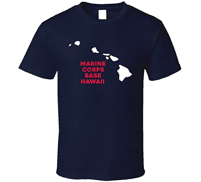 Marine Corps Base Hawaii Map.Amazon Com Marine Corps Base Hawaii Hawaii City Map Usa Pride T