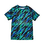 Kyпить Under Armour Boys Big Logo Hybrid 2.0 Short Sleeve Printed T, Vapor Green/Overcast, YXL на Amazon.com