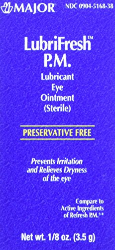 Major Pharmaceuticals Lubrifresh P.M. Sterile Artificial Tears Ointment, 6 Count