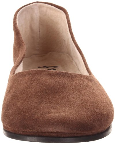 Chocolate Sloop Flat Ballet FS Suede Sole NY Women's French 0aqIY