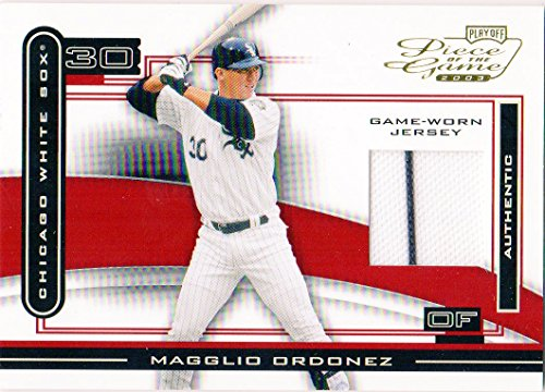 2003 Playoff Piece of the Game #60A Magglio Ordonez Game-Worn Jersey Card