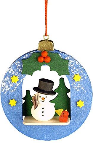 (Alexander Taron Importer 10-0451 Christian Ulbricht Ornament - Snowman in Xmas Ball - 3