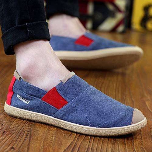 da di casual di scarpe uomo Scarpe selvaggia estiva denim Blue Gray tela 43 WangKuanHome tela Size scarpe scarpe tendenza da uomo Color 0Zvxqw