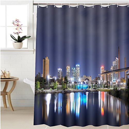 Gzhihine Shower curtain skyline of birmingham alabama from railroad park Bathroom Accessories 72 x 78 - Outlets Alabama Birmingham In