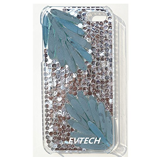 EVTECH (TM) Eleganter Luxus 3D Bling bunte Diamant-Kristallweinlese-Art-Schwarz-Rückseite Case für iPhone 4 / 4S T-Mobile Sprint AT & T Verizon (100% Handarbeit)