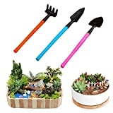 Best Garden Tools 3pcs Mini Garden Gardening Plant Tools Set With Wooden Handle Shovel Spade Rake