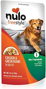 Nulo, Freestyle Puppy & Adult Chicken & Green Beans Recipe Dog Food Pouch, 2.8 oz