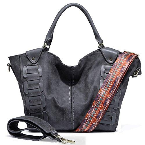 Faux Leather Handbag Purse Bag - 3