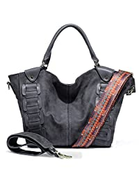 Fringe Hobo Bag Leather Tote Handbags Shoulder Cross Body Purse Satchel Bags for Women