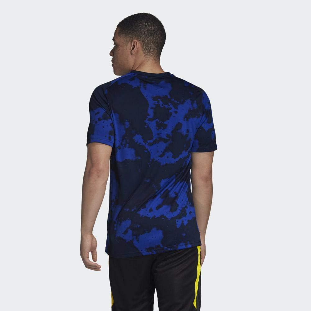 Mystery Ink adidas 2019-2020 Man Utd Pre-Match Training Football Soccer T-Shirt Jersey