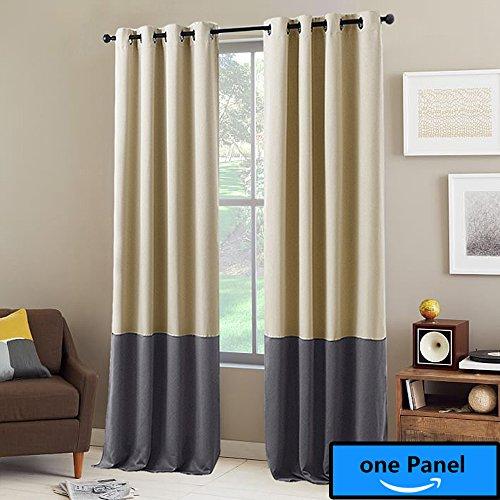 Beige Grey Curtains Amazon Com